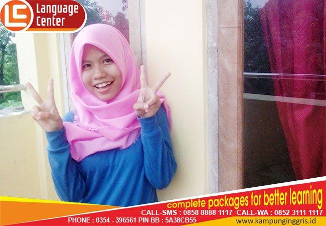 Awardee TOEFL Training LC Kampung Inggris Pare, Rini Alfiyani from Banten
